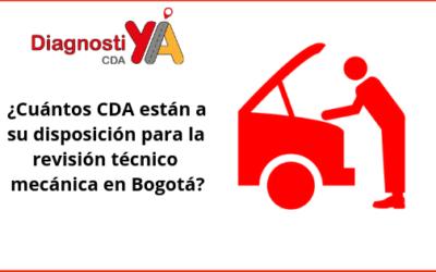 ¿Cuántos CDA están a su disposición para la revisión técnico mecánica en Bogotá?