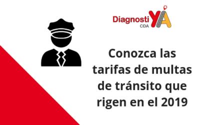 Conozca las tarifas de multas de tránsito que rigen en el 2019