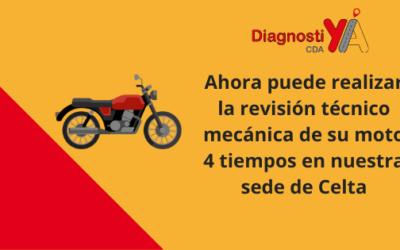 Ahora puede realizar la revisión técnico mecánica de su moto 4 tiempos en nuestra sede de Celta